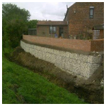 Our Work - Eroding river bank in Selby Yorkshire
