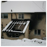 Our Work - Fire damage in Montgomery,  Wales